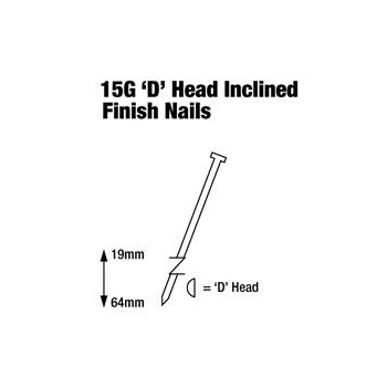 15G Inclined Finish Nails