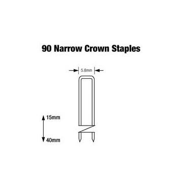 90 Series Narrow Crown Staples