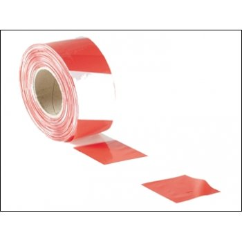 Barrier Tape Red/White 72mm x 500m