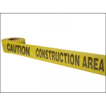 "Barrier Tape Yellow ""Caution Construction Area"" 72mm x 500m"