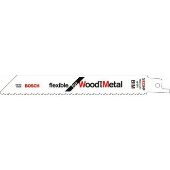 BOSCH Reciprocating Saw Blades S1122HF Flexi for Wood/Metal 225mm