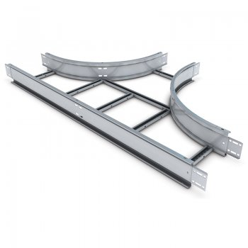 Cable Ladder Standard Duty 100 HDG Equal Tee