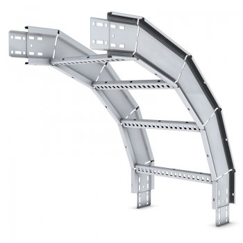 Cable Ladder Standard Duty 100 Stainless Steel External Riser 45