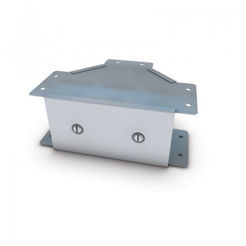 Cable Trunking Gusset Tee Outside Lid