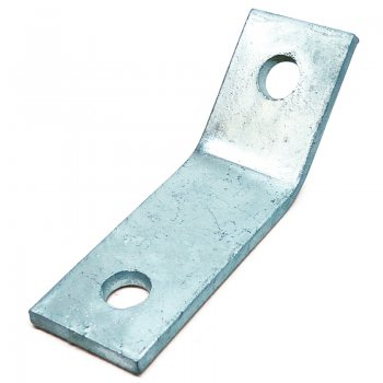 Channel 45° Angle Bracket External Stainless Steel 2 Hole