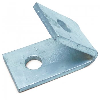 Channel 45° Angle Bracket HDG Internal 2 Hole