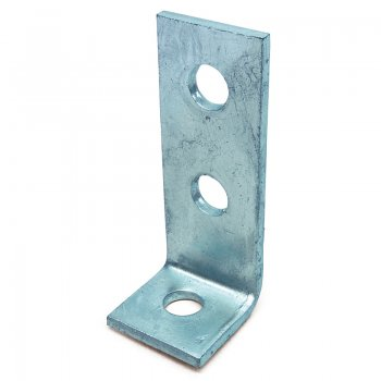 Channel 90° Angle Bracket HDG 3 Hole 41 x 104mm