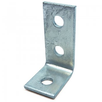 Channel 90 Angle Bracket HDG 3 Hole 47 x 98mm