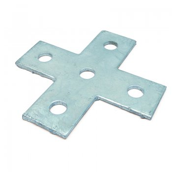 Channel Flat Bracket HDG 4 Way Cross Plate