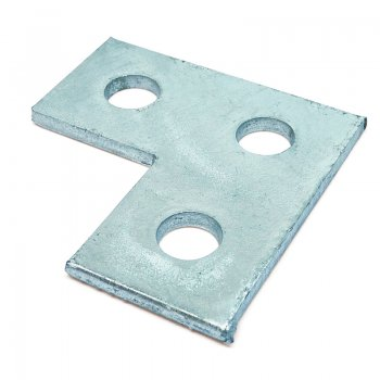 Channel Flat Bracket HDG L 3 Hole