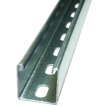 Channel Section Light Pre Galvanised Slotted 41 x 41 x 1.5mm