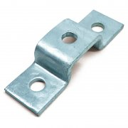 Channel U Bracket HDG 3 Hole 21mm