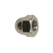 Hex Dome Nuts BZP
