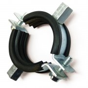 Qwikclamp Double Bossed Pipe Clamps - Lined