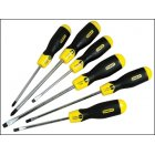 Screwdriver Set Slotted/Phillips Stanley 6 Pce