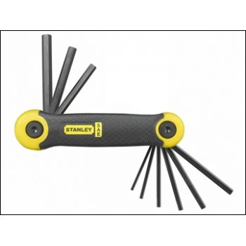 STANLEY Folding Hex Key Set Imperial 9 Pce